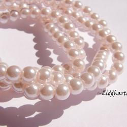 6mm Pearlecent Glaspärlor - 10st Lt Pink / LjusRosa