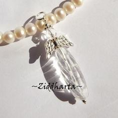 1 Ängel-hänge Crystal - Lång Vriden Droppe