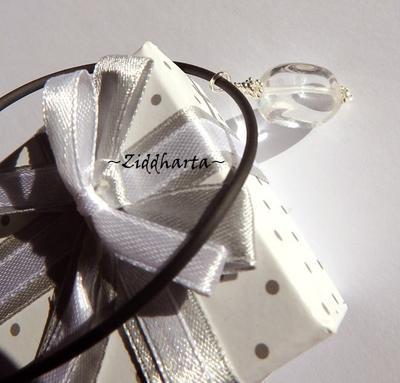 Gem Stone Necklace Clear Quartz Necklace Crystal Halskette Kragen Bergkristall Halsband Crystal Gem Tarot Necklace - Handmade by Ziddharta