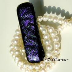 01 Dichroisk Cabochon ca 55x17mm - Lilac Mist