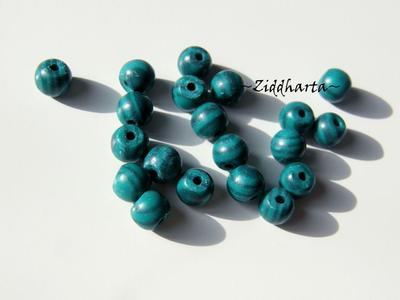 Malakit - imiterad - Rund pärla 5mm