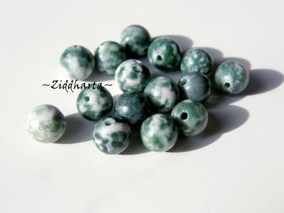 Trädagat /Treeagat - Runda pärlor 6mm