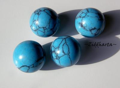 Turquoise BIG rund Focal Bead /Centerpiece 16mm