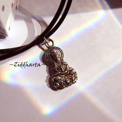 AS Godess Necklace Antique Silver Finish handmade Pendant Halskette Kragen Halsband Yoga Meditation Necklace - Handmade Jewelry by Ziddharta