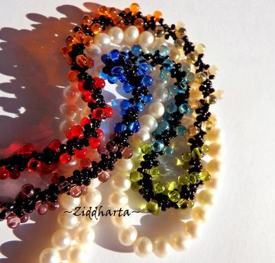 Rainbow Necklace Yoga Chakras Necklace Pride Necklace Symbol of Change Necklace 3D Lizard Pendant - Black core & Drops - Handmade by Ziddis
