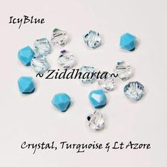 Swarovski Crystals 15st - IcyBlue