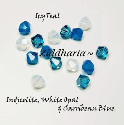 Swarovski Crystals 15st - IcyTeal