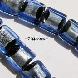 Glaspärla SF SQUARE: Svart Sapphire - 6295