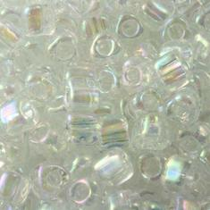 10gram Miyuki Triangles 8/0 - Crystal Iris #1151