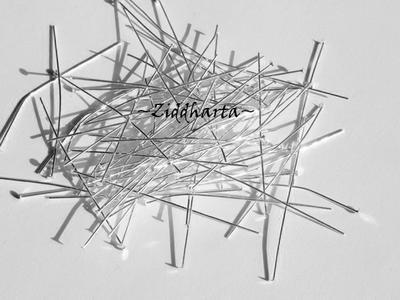 2:a sortering: SP 5cm Hattpinnar 0,6mm - ca 100 st!