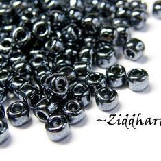 10 gram Japanska MATSUNO Seedbeads 6/0 - Hematite