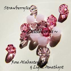 Swarovski Crystals 15st - StrawberryIce