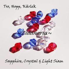 Swarovski Crystals 15st - Tro, Hopp & Kärlek