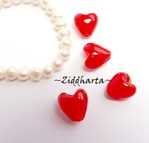 Hjärta ca 11-13mm - RÖTT RED LOVE - Valentines Day - Alla Hjärtans dag