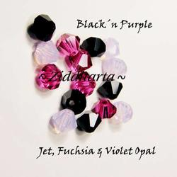 Swarovski Crystals 15st - Black´n Purple