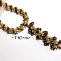 Necklace /Halsband BronzeGolden Spiral Rope w beaded Bronze Spiral Pendant Miyuki Seed Beads Fringe - Handmade beaded Jewelry and Beading by Ziddharta
