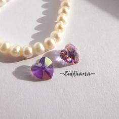 Swarovski 10mm HJÄRTA - Light Amethyst AB