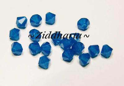 Swarovski Bicone 4mm Crystals - Carribean Blue - 8st
