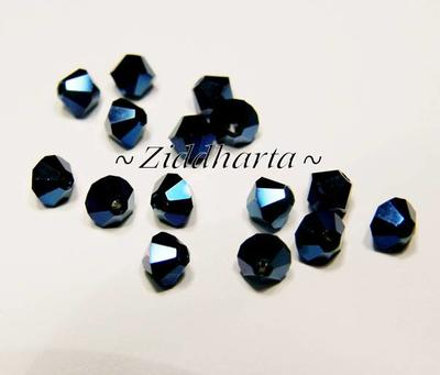 Swarovski Bicone 4mm Crystals - Metallic Blue 2x - 8st