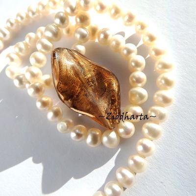 LampWork pärla: Big Swirl - SF Bronze - 6373