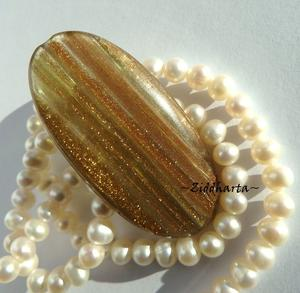 LampWork: Exklusivt! Stor Oval PUFF Gold - 5393