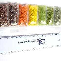 Seedbeads-MIX 7st olika färger: Paket #02: Nature