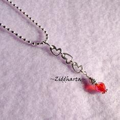 Halsband: Miniatyr-Parfym & Hjärtan på kulkedja!