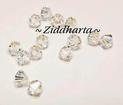 Swarovski 4mm Bicone - Crystal Moonlight - 8st