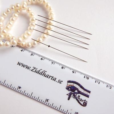 5st Längre Pärlnålar - Beading Needles - ULTRA THIN går igenom 1mm seedbeads!