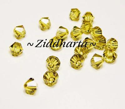 Swarovski 4mm Bicone - Lime - 8st