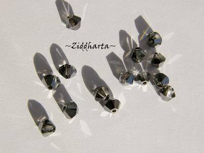 Swarovski 4mm Bicone - Crystal Silver Night - 8st
