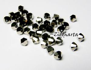 Swarovski 4mm Bicone -  Metallic Lt Gold 2x