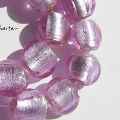 LampWork pärla Coin: Lavendel - 6375