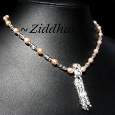LYXIGT: Halsband, armband & örhängen! Aprikos brudset!