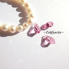Swarovski 11x5,5mm Teardrop hänge: Rose
