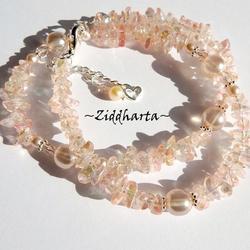SMYCKEN: Halsband Peach GlassChip AB