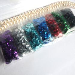 Paljett-mix  7 Läckra färger! För pyssel, dekor & pärlande