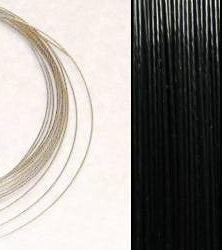 2,2m Wire 0,38mm: BLACK + 20 SP klämpärlor