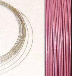 2,2m Wire 0,38mm: ROSA + 20 SP klämpärlor