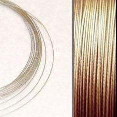 2,2m Wire 0,38mm: GuldSand + 20 AG klämpärlor