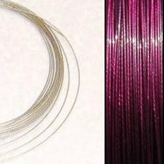 2,2m Wire 0,38mm: Deep Purple + 20 SP klämpärlor