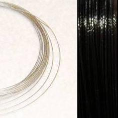 2,2m Wire 0,36mm: BLACK + 20 SP crimpbeads - HQ!