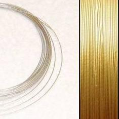 2,2m Wire 0,36mm: Lt GOLD + 20 SP crimpbeads - HQ!