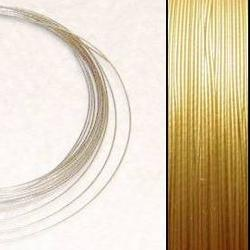 2,2m Wire 0,36mm: Lt GOLD + 20 SP crimpbeads - HQ!