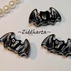 1st Pärla stort hål: BAT /Fladdermus /Halloween 23x13mm