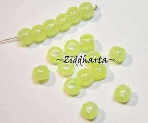 20st Neon GLOW in the Dark: PONY beads 7x6mm