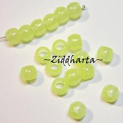 20st PONY beads 7x6mm: Neon