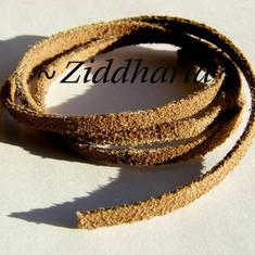 60cm Mocka-band Suede: Nougat /Brunt - 4x2mm