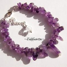 Vackert och användbart armband till alla tillfällen: Amethyst /Ametist med hänge!