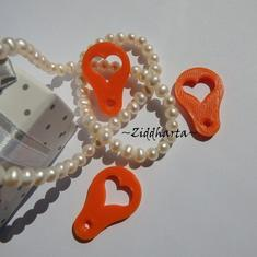 3st Varuvagns-poletter - Mynt-hjärtat till kundvagnen: #20 Neon Orange